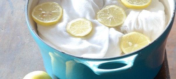 використання лимонів для виведення плям
