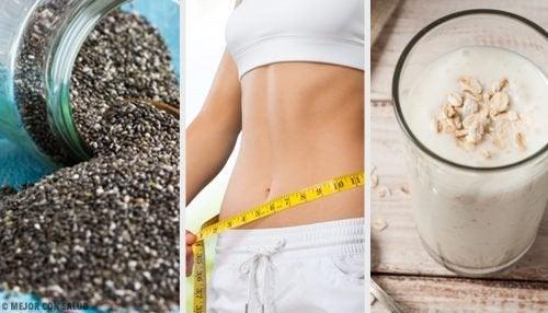 Смузі для схуднення з грушею, насінням чіа та вівсом