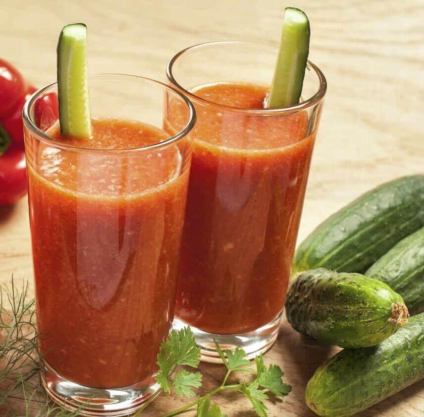 огіркові детокс-смузі з помідором