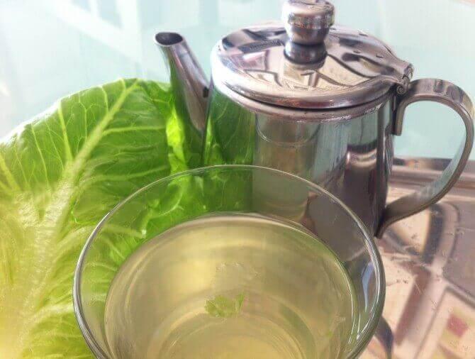чай з листя салату