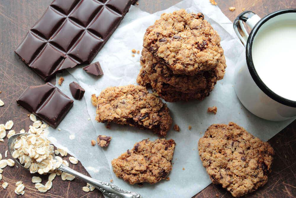 вівсянка та шоколадне печиво