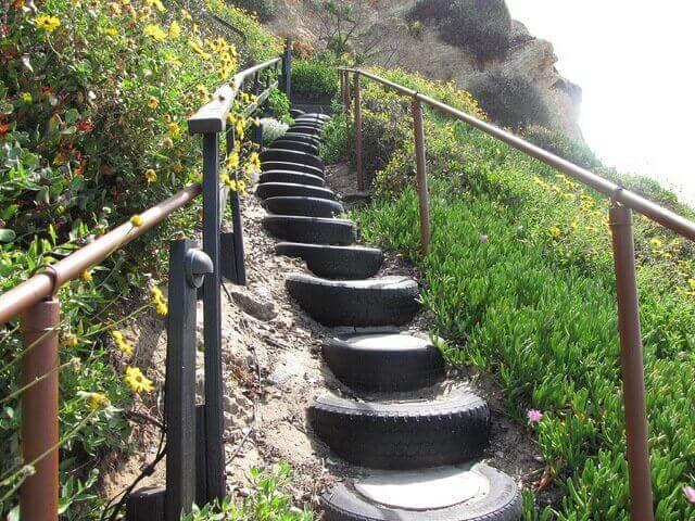 використання шин для сходів