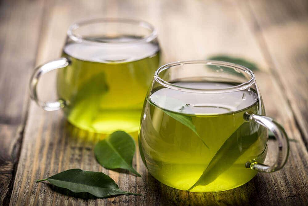 зелений чай для жирної печінки