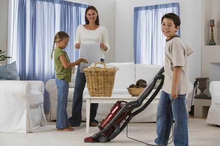 родинне підтримання чистоти в будинку