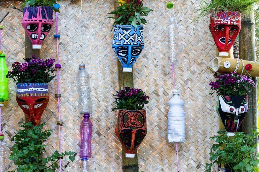 Красиві горщики для квітів з переробленого матеріалу