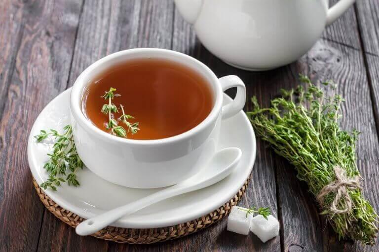 чаї від кашлю на основі чебрецю