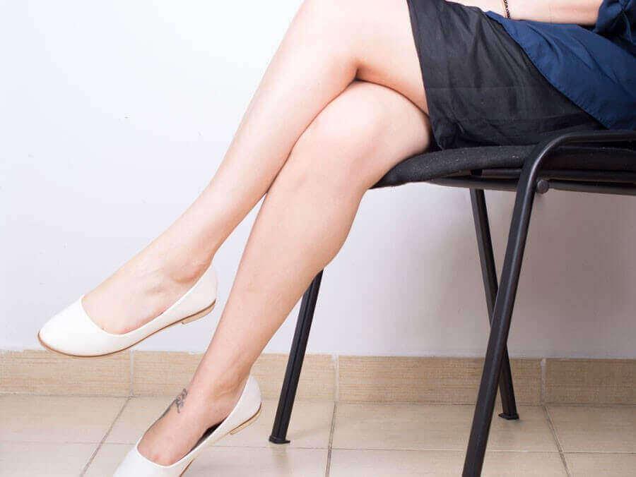 нога за ногу