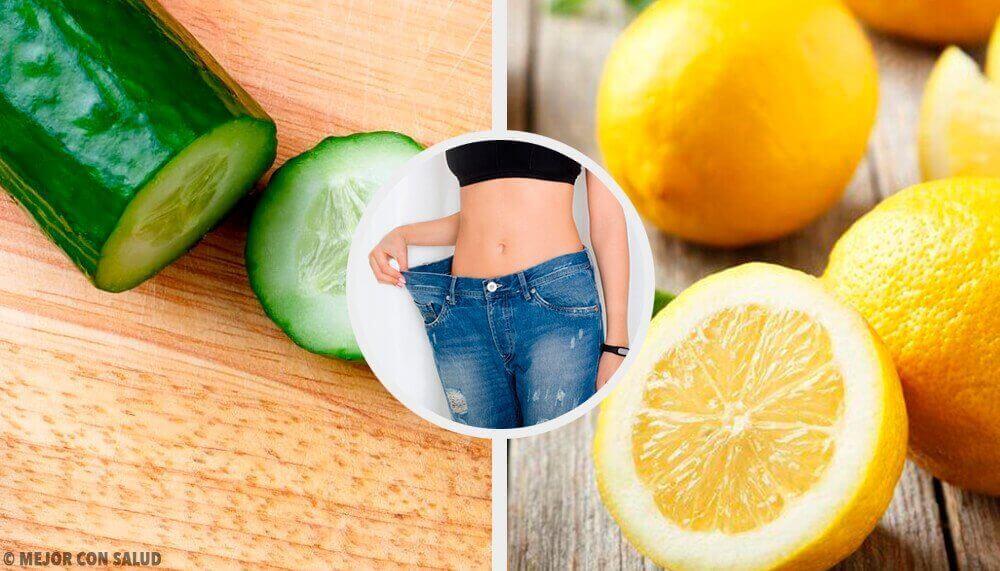 Смузі для схуднення з огірком, м'ятою та лимоном