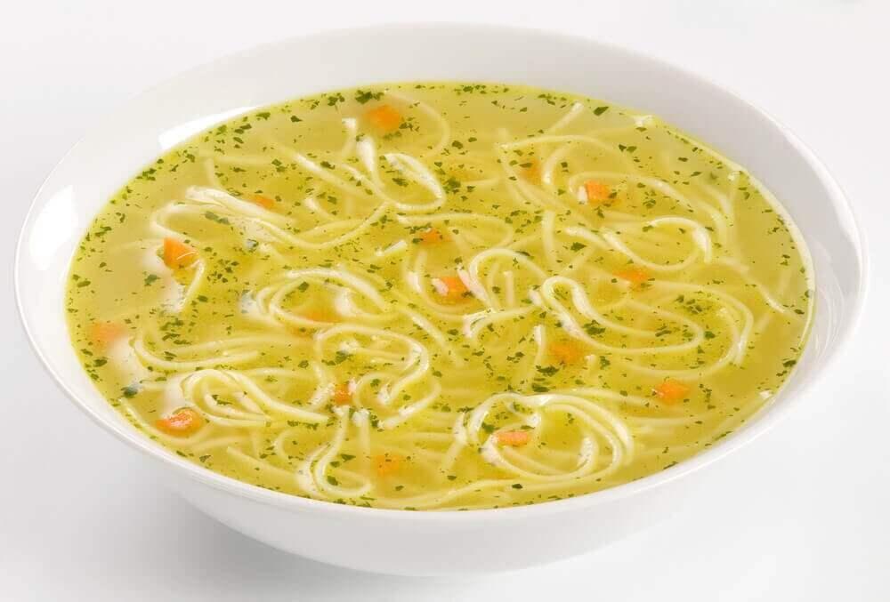 суп з локшиною для лікування діареї