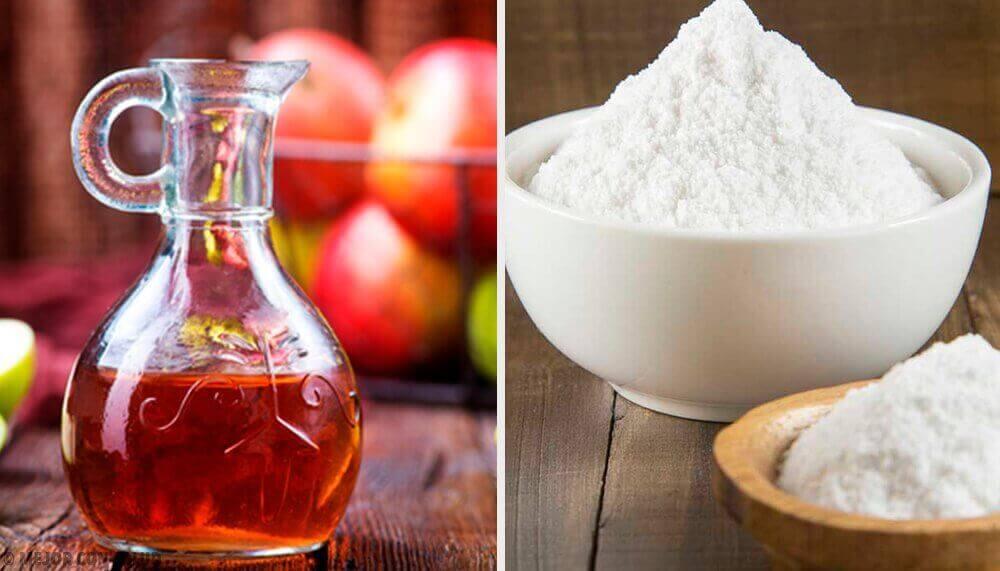 харчова сода та яблучний оцет