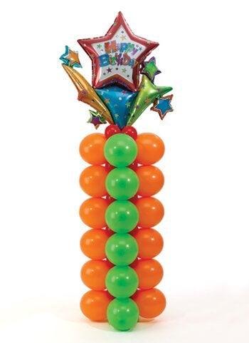 украсить воздушными шарами в форме колонн
