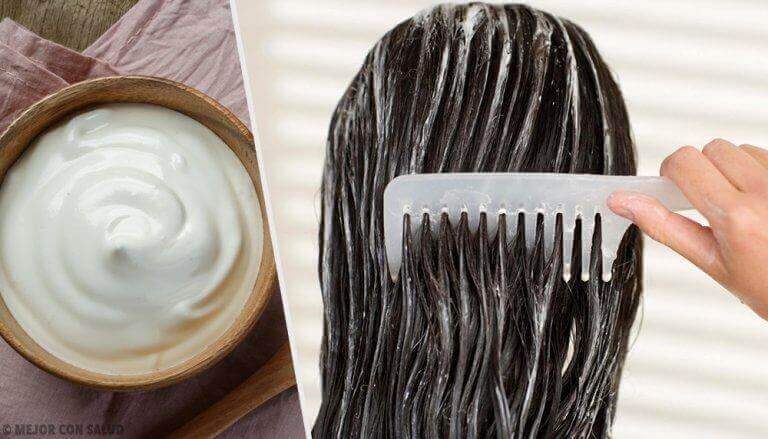 засоби для здорового волосся на основі майонезу
