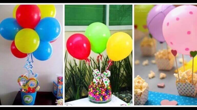 украсить воздушными шарами сладости