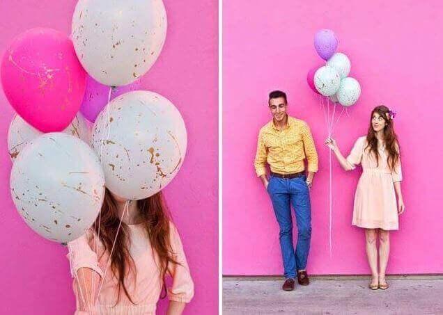 украсить воздушными шарами с красками