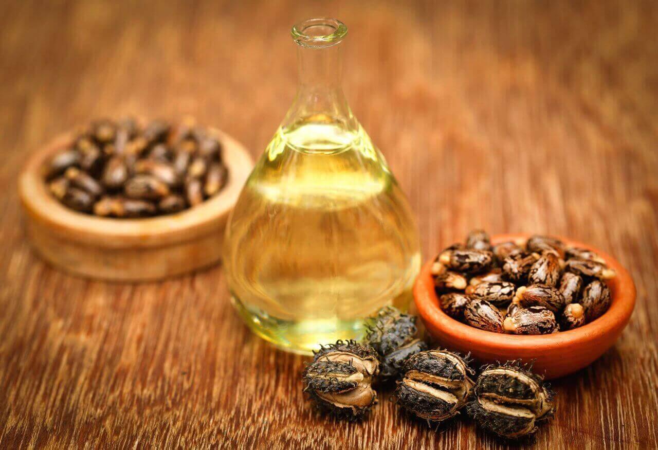 Касторова олія та оливкова олія