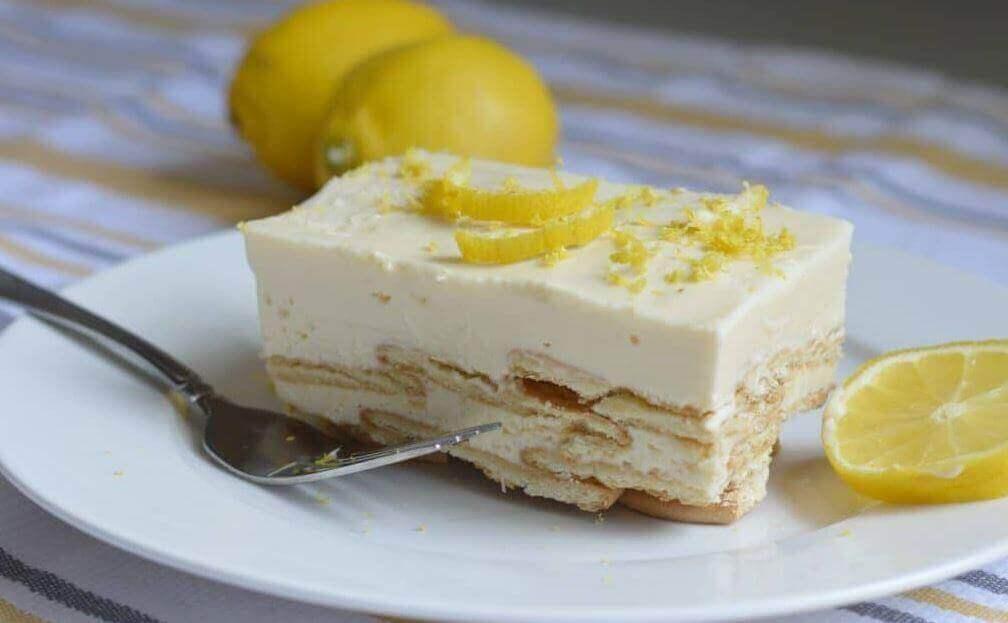 холодний пиріг з лимонним кремом