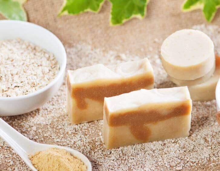 Натуральне мило з вівсянкою для вішарування шкіри