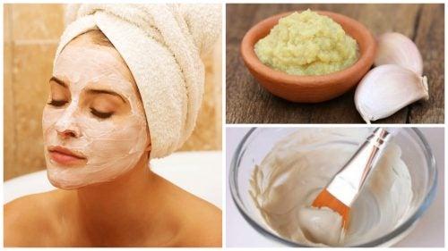 Часникова маска для очищення та омолодження шкіри