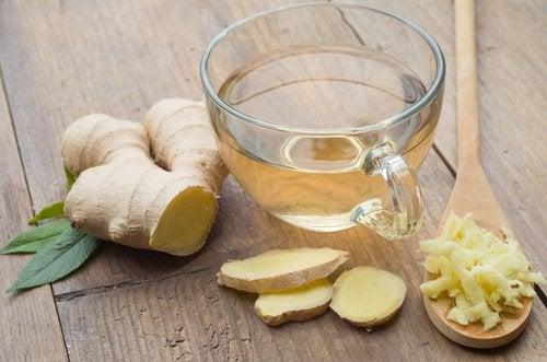 імбирний чай для заспокоєння печії