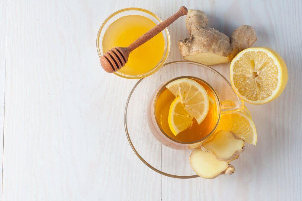 імбир, мед і лимон