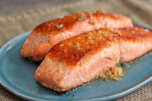 лосось для підкреслення м'язів