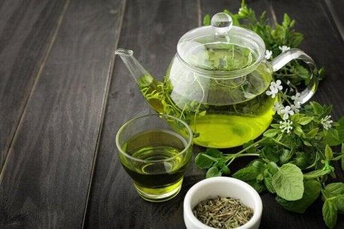 зелений чай для підкреслення м'язів