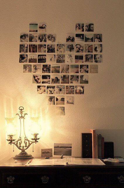 оригінальні ідеї прикрашання кімнати фотографіями