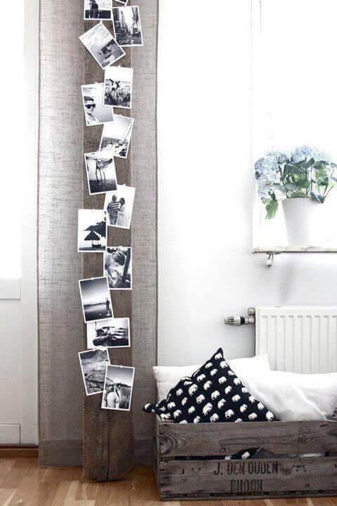 вертикальна дошка з фотографіями