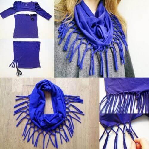 шарфи з бавовняних сорочок