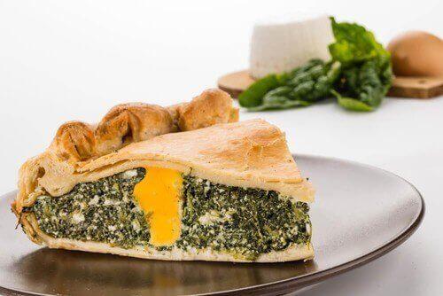 Як приготувати смачний пиріг зі шпинатом і мангольдом