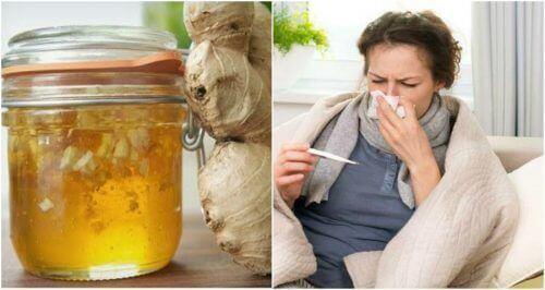 Домашній сироп від кашлю з медом та імбиром