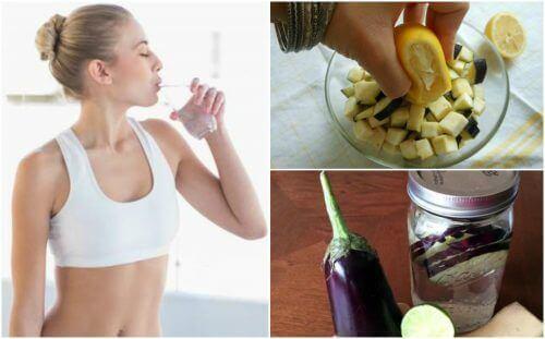 Лимонно-баклажанна вода для схуднення