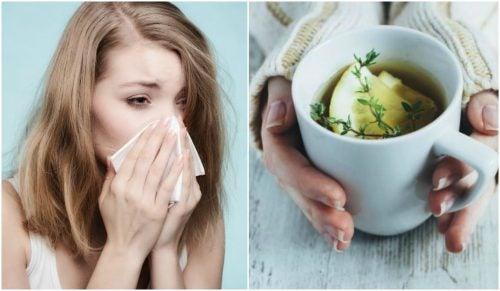 Натуральний чай з чебрецем, щоб зменшити кашель