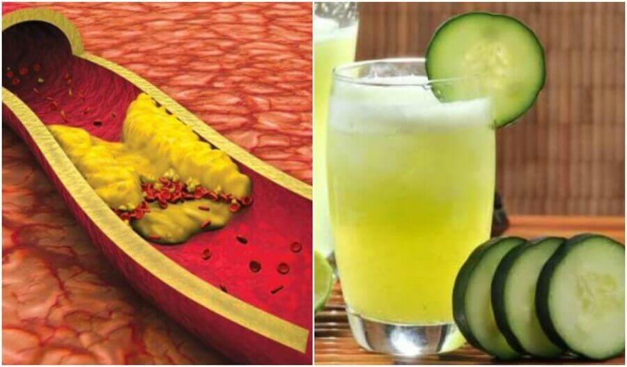 Сік для зменшення холестерину з алое, огірком і грейпфрутом