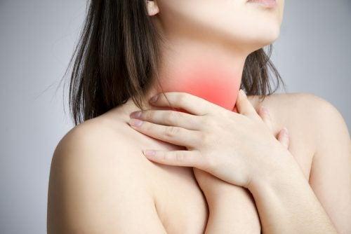 точки тиску від болю в горлі