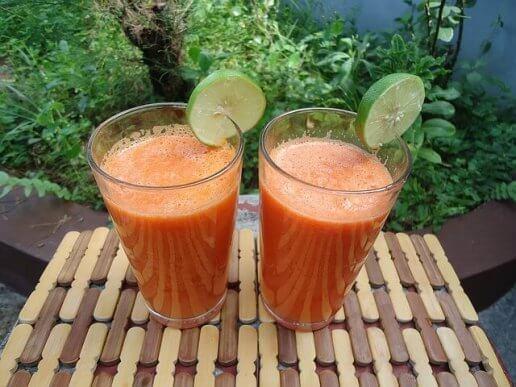 смузі з імбиром, апельсином і морквою