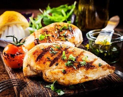 збагачені калієм продукти: курятина