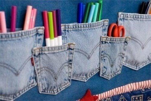 використання старих джинсів для виготовлення органайзерів