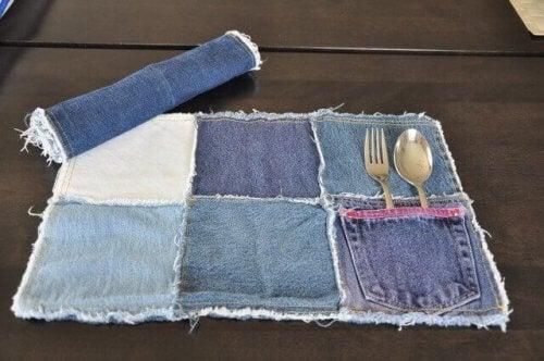 джинсові серветки для столу