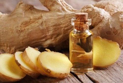 Сироп з імбиром і оливковою олією для зняття болю