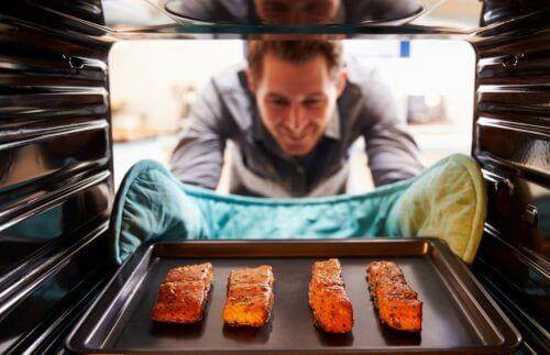 як приготувати запечений лосось