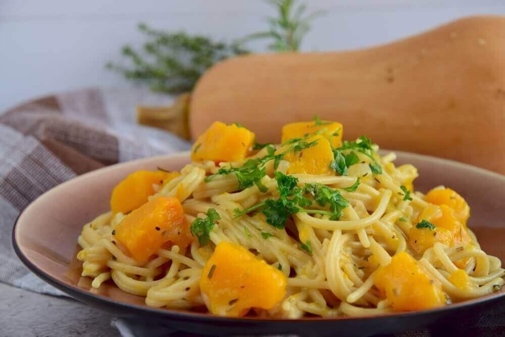 Як приготувати смачні спагеті з гарбузом