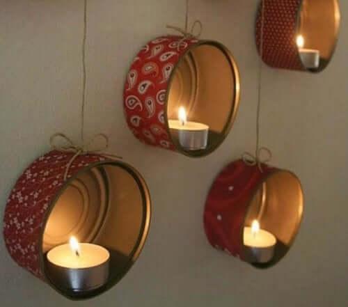 свічники з алюмінієвих банок