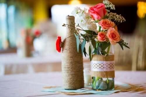 пляшки від вина для зберігання квітів