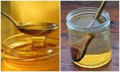 Теплий засіб з водою та медом від хворого горла