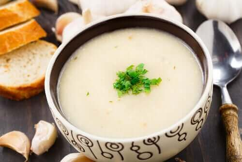 рецепт часникового супу