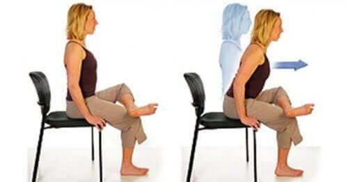 вправи на стільці для лікування болю в сідничному нерві